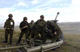 Brittiska soldater vid Falklandsöarna. Eller ska vi säga Malvinerna? Foto: Wikimedia Commons