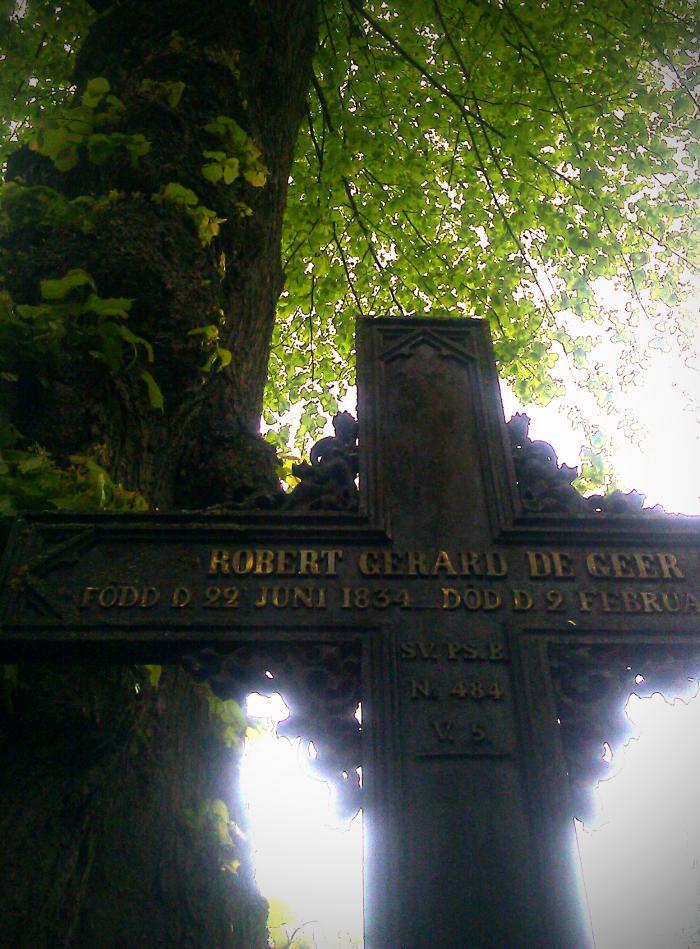 De Geer Kors Västra kyrkogården Nyköping