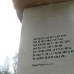 Vår Gud är oss en väldig borg påminner entreportalen besökarna. Foto: Johan Eriksson