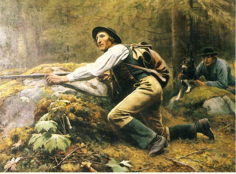 Skytten Målning av Johan Tiren