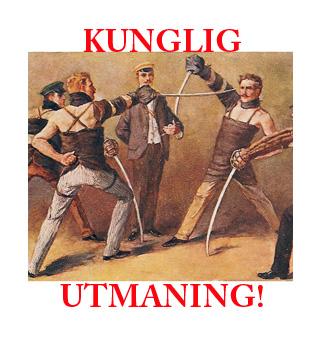 Tyska studenter duellerar. Målning av Georg Mühlberg (1863–1925)