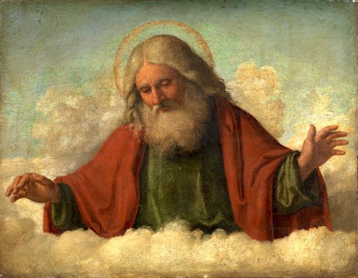 Målning Cima da Conegliano, Gud, fadern